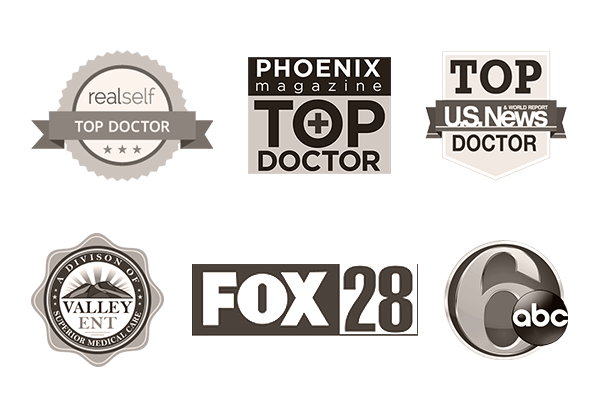 Dr. Hobgood's credentails - realself top doctor, phoenix magazine top doctor, and U.S. News top doctor. Also featured on Fox 28, ABC 6, and Valley ENT.