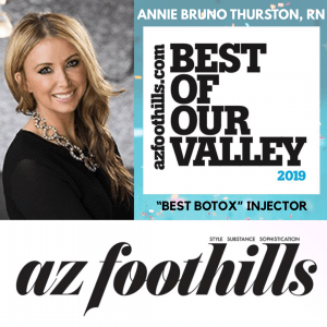 """2019 Best of Our Valley """"Best Botox"""" Injector Award from AZ Foothills"""