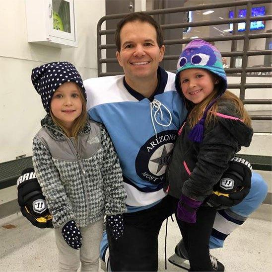Dr. Hobgood at skating rink