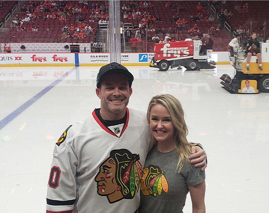 Ashley at Chicago Blackhawks game