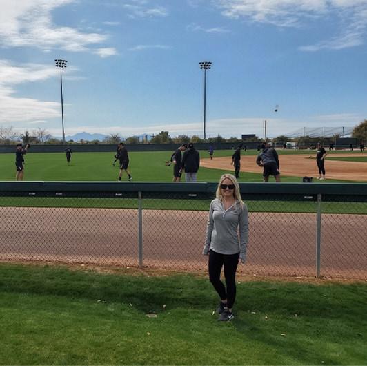 Ashley at the White Sox training